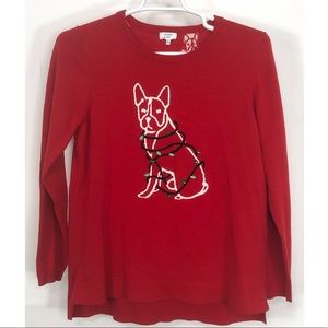 Crown & Ivy Christmas dog sweater XL